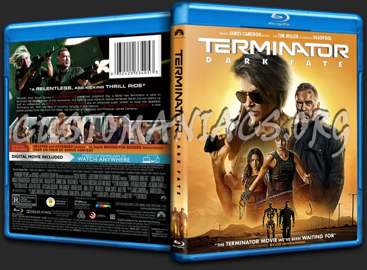 Terminator Dark Fate (2019) blu-ray cover