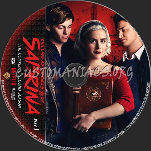 Chilling Adventures Of Sabrina Season 2 dvd label