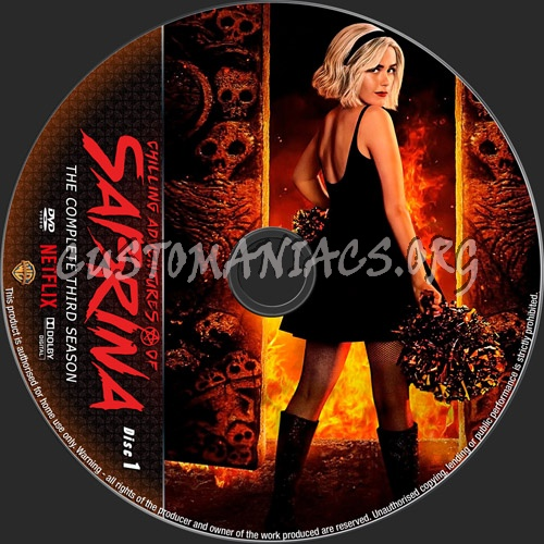 Chilling Adventures Of Sabrina Season 3 dvd label