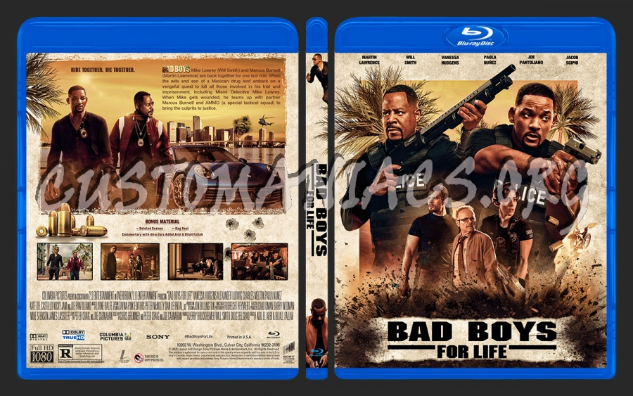 Bad Boys for Life (2020) blu-ray cover