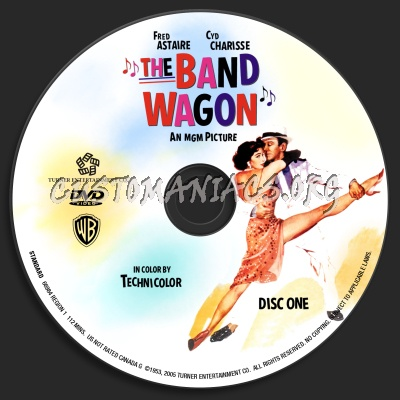The Band Wagon dvd label