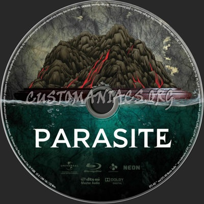 Parasite (2019) blu-ray label