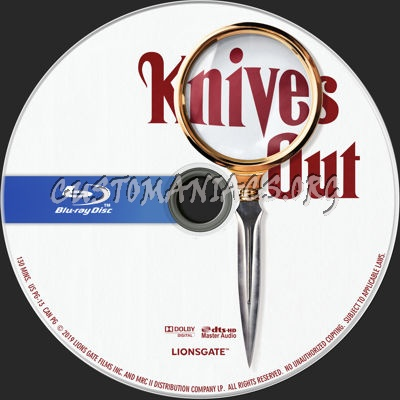 Knives Out (2019) blu-ray label