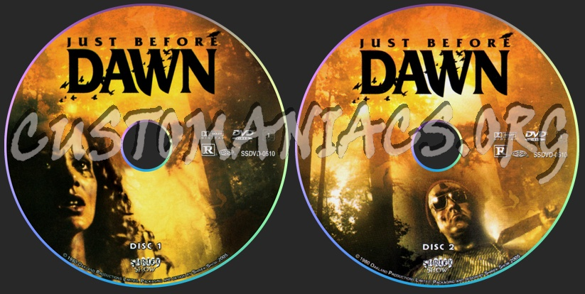 Just Before Dawn dvd label