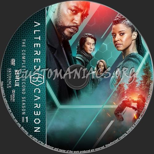Altered Carbon Season 2 dvd label