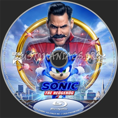 Sonic the Hedgehog (2020) blu-ray label