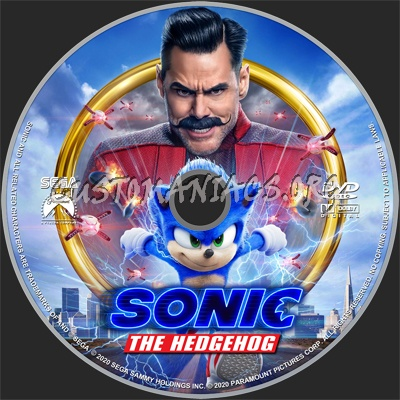 Sonic the Hedgehog (2020) dvd label