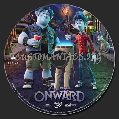Onward dvd label