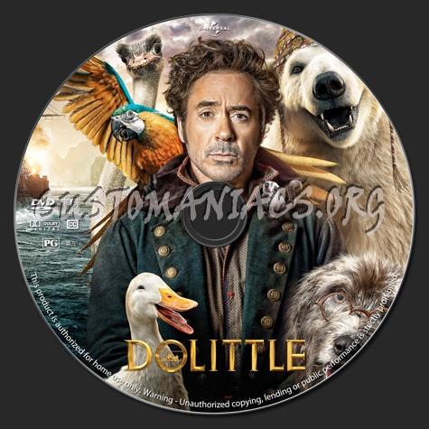 Dolittle dvd label