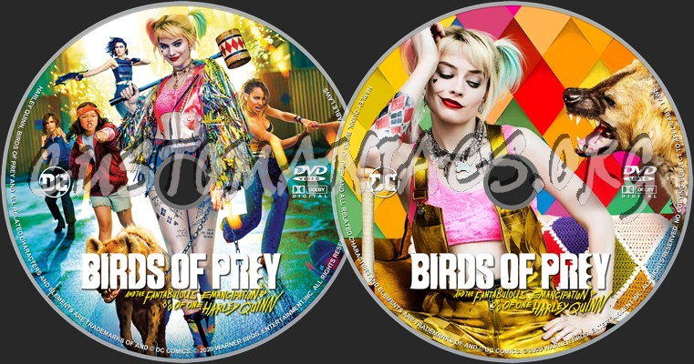 Birds Of Prey And The Fantabulous Emancipation Of One Harley Quinn 2020 Dvd Label Dvd Covers Labels By Customaniacs Id 261425 Free Download Highres Dvd Label