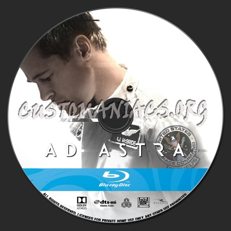 Ad Astra blu-ray label