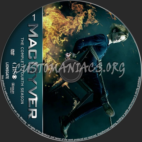 MacGyver Season 4 dvd label