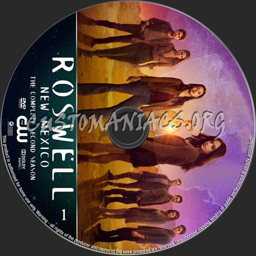 Roswell New Mexico Season 2 dvd label