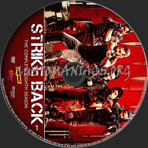 Strike Back Season 8 dvd label