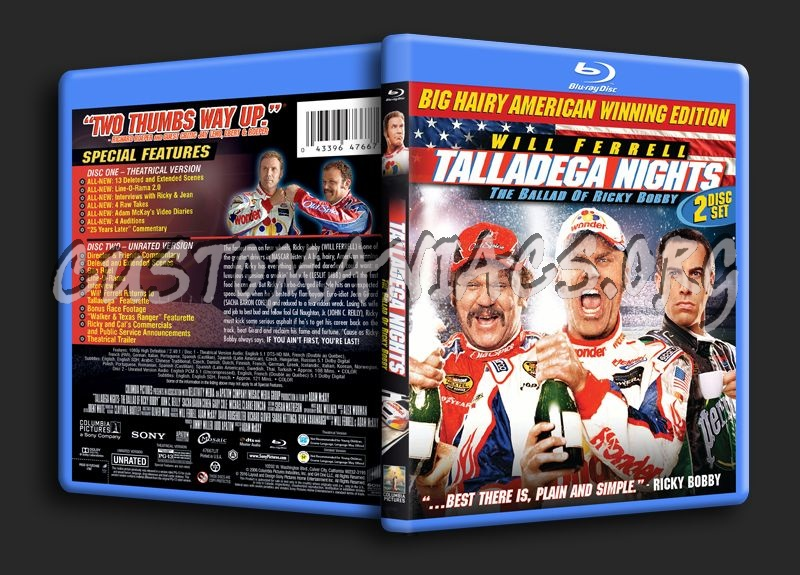 Talladega Nights the Ballad of Ricky Bobby blu-ray cover