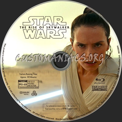 Star Wars: The Rise of Skywalker (2019) blu-ray label