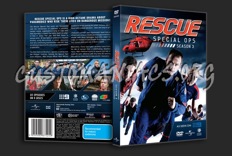 Rescue Special Ops Season 3 dvd cover