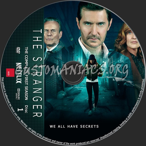 The Stranger Season 1 dvd label