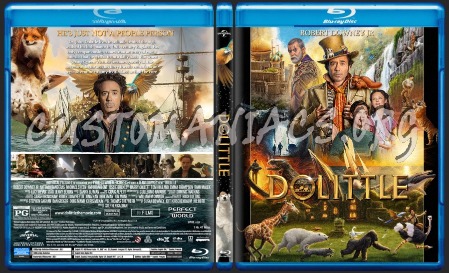 Dolittle 2020 blu-ray cover