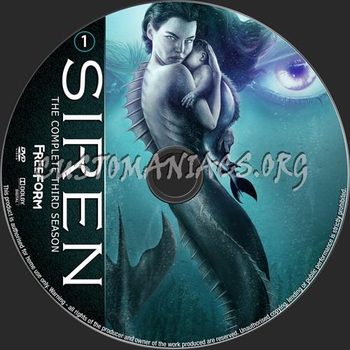 Siren Season 3 dvd label