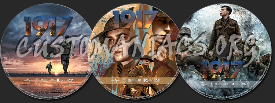 1917 dvd label