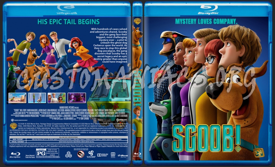 Scoob! blu-ray cover