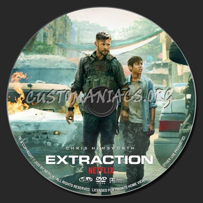 Extraction (2020) dvd label