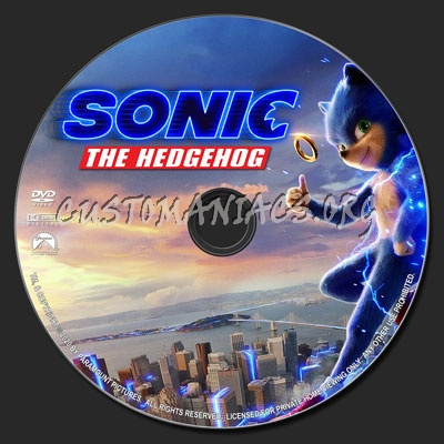Sonic the Hedgehog (2019) dvd label