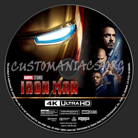 Iron Man 4K blu-ray label