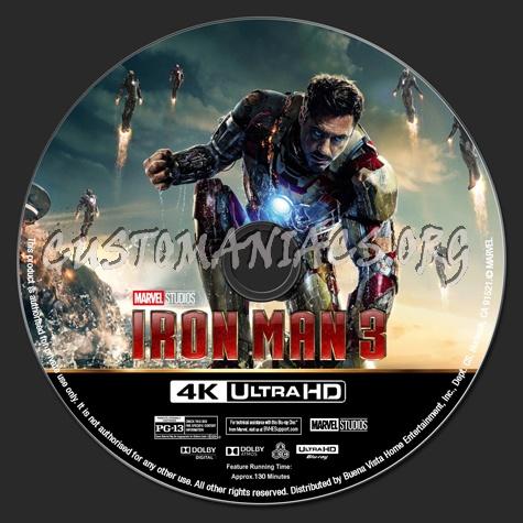 Iron Man 3 4K blu-ray label