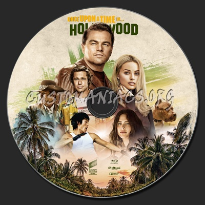 Once Upon a Time... in Hollywood (2019) blu-ray label