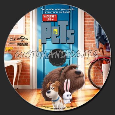 The Secret Life Of Pets 2D & 3D blu-ray label