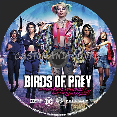 Birds Of Prey And The Fantabulous Emancipation Of One Harley Quinn 4k 2020 Blu Ray Label Dvd Covers Labels By Customaniacs Id 262655 Free Download Highres Blu Ray Label