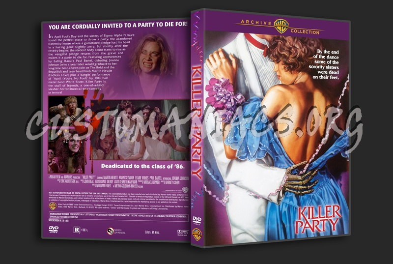 Killer Party 1986 dvd cover
