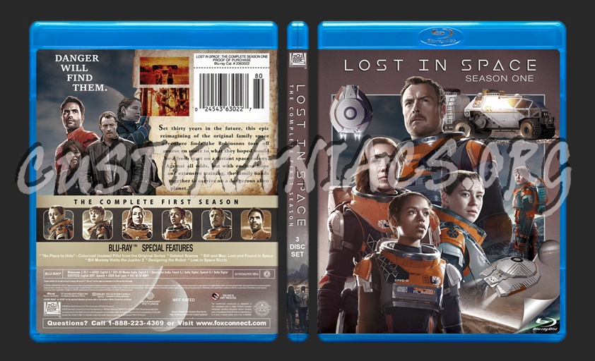 Lost in Space - Season 1 blu-ray cover