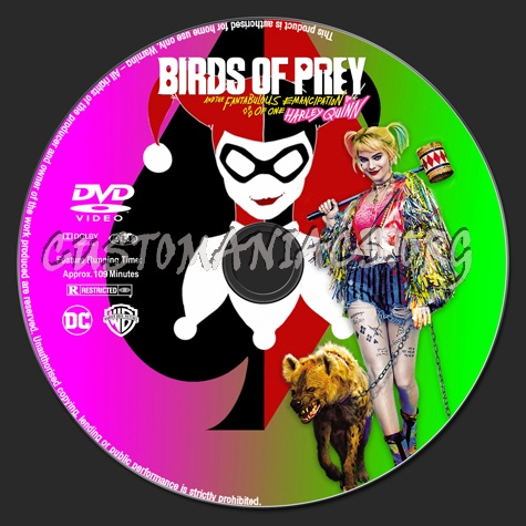 Birds Of Prey And The Fantabulous Emancipation Of One Harley Quinn Dvd Label Dvd Covers Labels By Customaniacs Id 262543 Free Download Highres Dvd Label