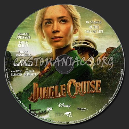 Jungle Cruise 2021 dvd label