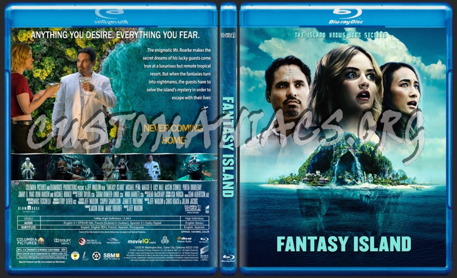Fantasy Island 2020 blu-ray cover