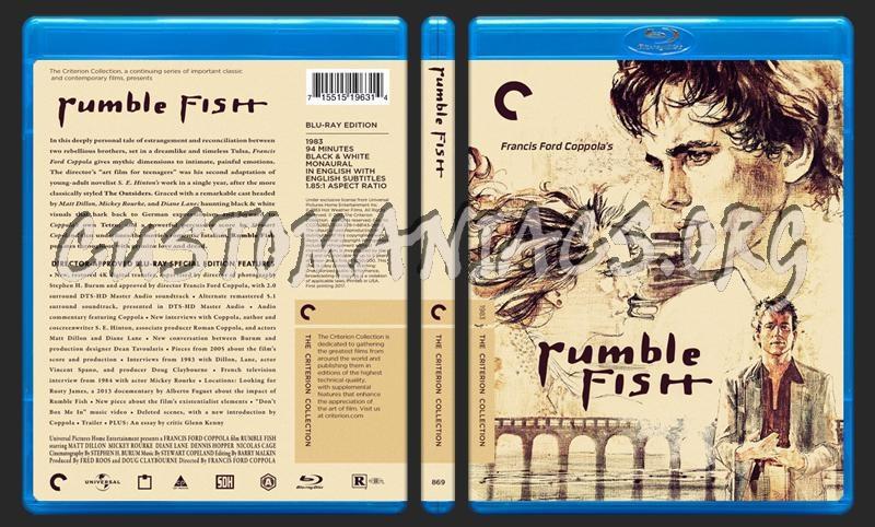 869 - Rumble Fish blu-ray cover
