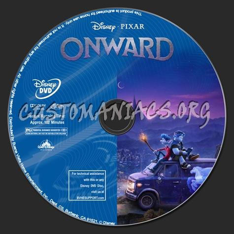 Onward dvd label