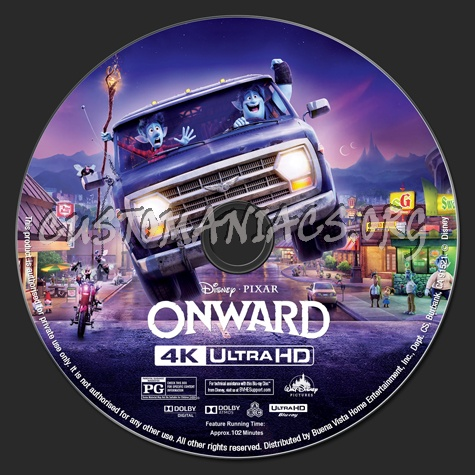 Onward 4K blu-ray label