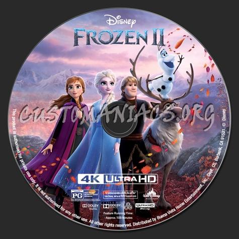 Frozen II 4K blu-ray label
