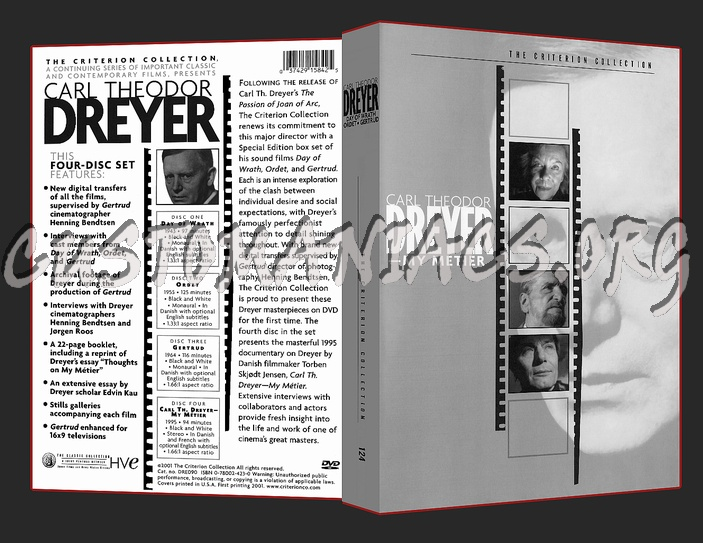 Carl Theodor Dreyer Collection 124 Carl Theodor Dreyer Box