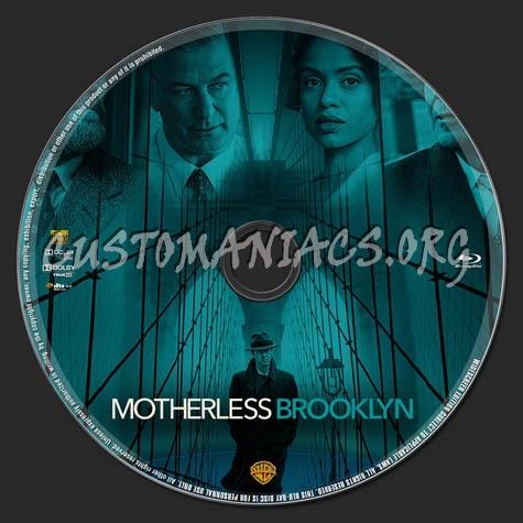 Motherless Brooklyn (2019) blu-ray label
