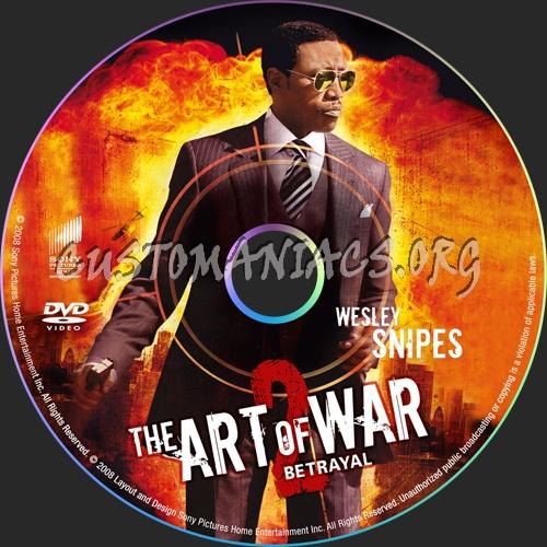 Art of War The Betrayal dvd label