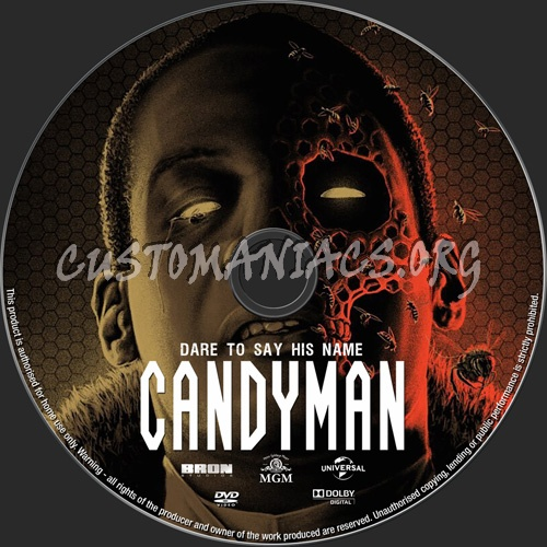 Candyman 2020 dvd label