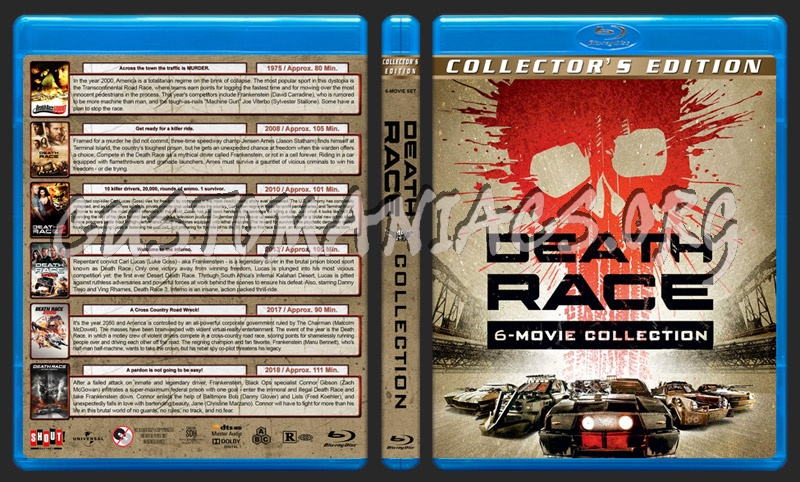 Death Race Collection (6) blu-ray cover