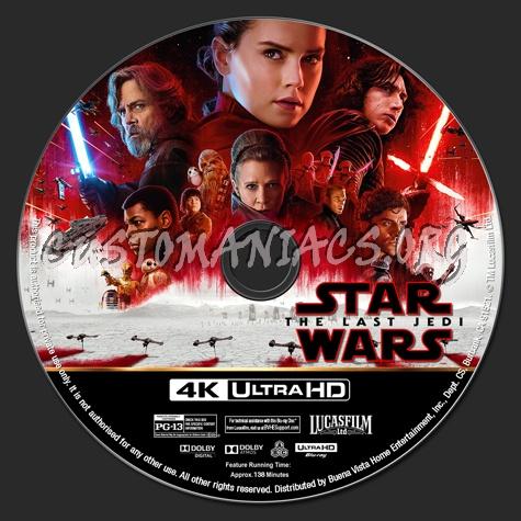 Star Wars: The Last Jedi 4K blu-ray label