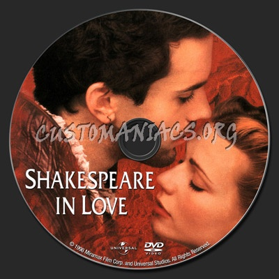 shakespeare in love. Shakespeare In Love dvd label