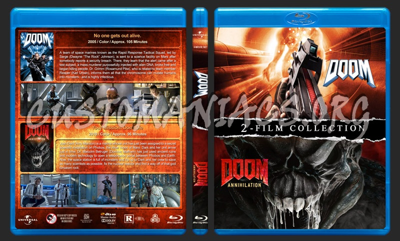 Doom Double Feature blu-ray cover